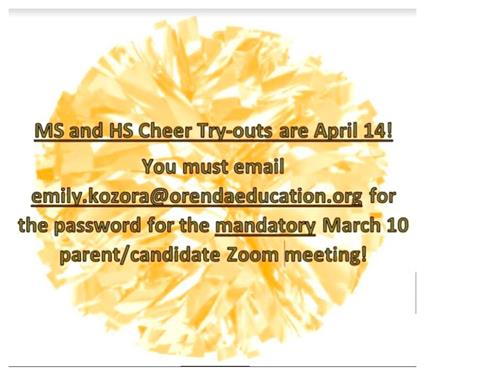 Cheer Tryout Reminder