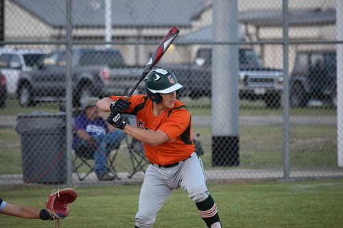 Taylor Smith takes a swing at Florence baseball game.