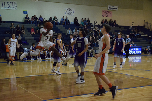 Cory Byars goes up for layup vs. the Buffaloes