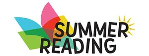 Book and Sun image with the words summer reading