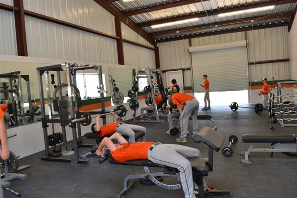 GCPS students working out