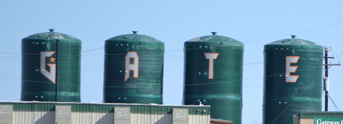 photo of Gateway water towers