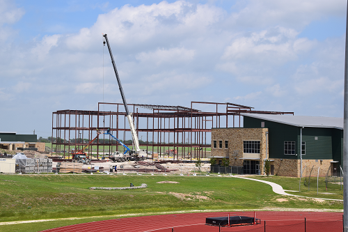 Construction photo of new learning center